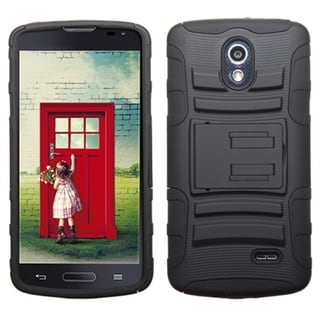 INSTEN Shock Proof PC Soft Silicone Dual Hybrid Phone Case Cover for LG Lucid 3 VS876