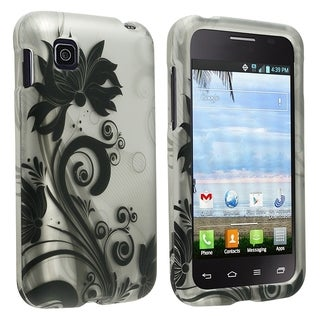 INSTEN Pattern Dust Proof Rubberized Hard Plastic Phone Case Cover for LG Optimus Dynamic 2 L39c