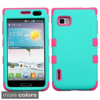 BasAcc Shock Proof PC Silicone Dual Hybrid Case for LG Optimus F3