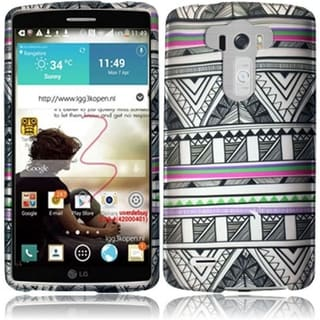 INSTEN Pattern Dust Proof Rubberized Hard Plastic Phone Case Cover for LG G3