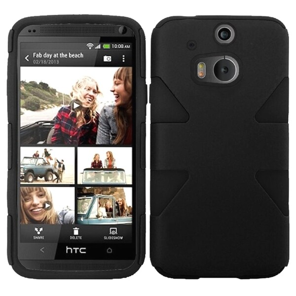 INSTEN Shock Proof PC Soft Silicone Dual Hybrid Phone Case Cover for HTC One 2 M8 13562477