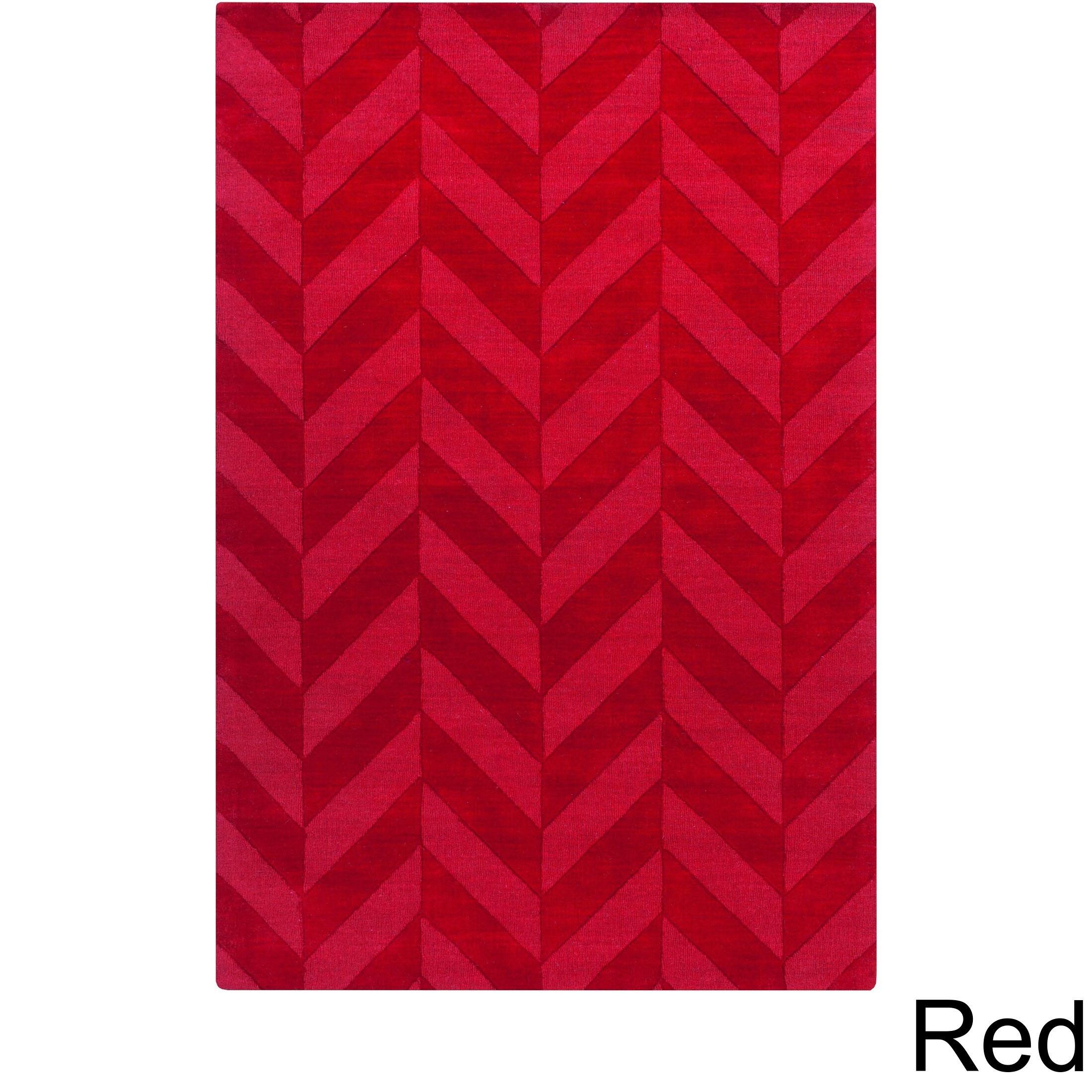 Artistic Weavers Hand-woven Ann Tone-on-Tone Geometric Zig-Zag Wool Area Rug (3' x 5') at Sears.com