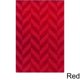 Artistic Weavers Hand-woven Ann Tone-on-Tone Geometric Zig-Zag Wool Area Rug (3' x 5')