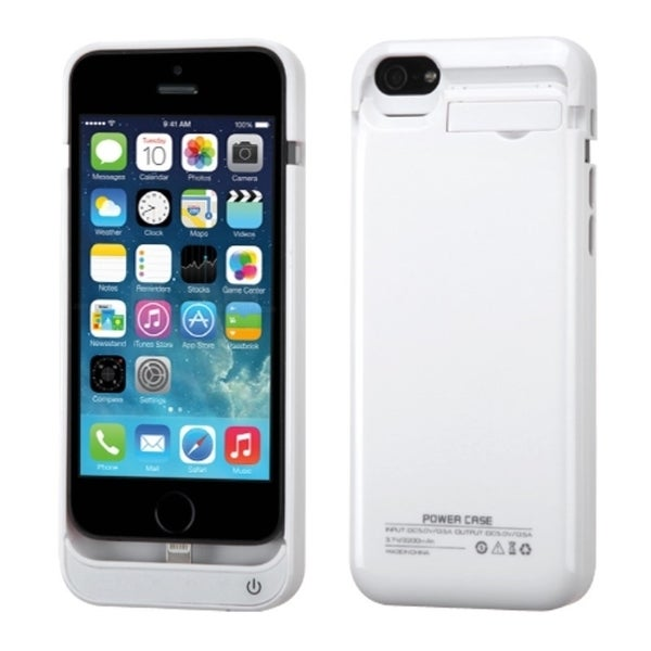 INSTEN 2200mAh White Quantum Energy Battery Phone Case Cover for Apple iPhone 5/ 5S