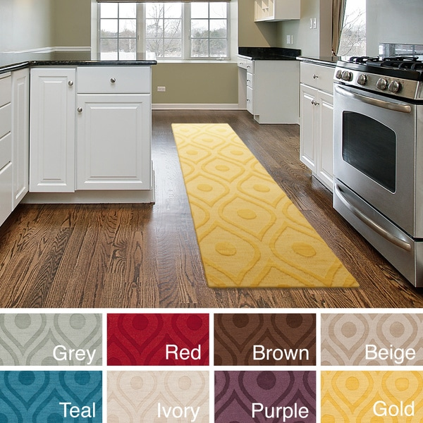 Hand-Woven Abi Tone-on-Tone Wool Rug (2'3 x 8') - 2'3 x 8' 13562804
