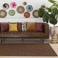 Artistic Weavers Hand-woven Abi Geometric Tone-on-Tone Wool Area Rug (2'3 x 12')