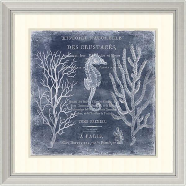 Deborah Devellier 'The Deep Blue Sea II' Framed Art Print 29 x 29-inch