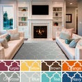 Hand-Woven Nicole Lattice Cotton Rug (9' x 12')