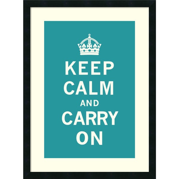 The Vintage Collection 'Keep Calm and Carry On' Framed Art Print 23 x 31-inch