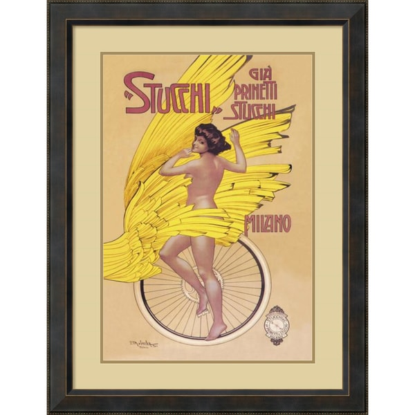 Gian Emilio Malerba 'Stucchi Bicycles' Framed Art Print 30 x 40-inch
