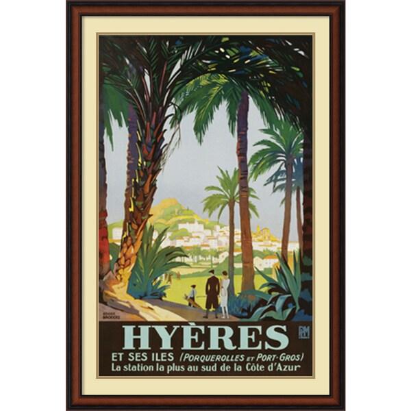 Roger Broders 'Hyeres' Framed Art Print 31 x 43-inch