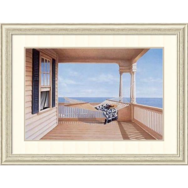 Daniel Pollera 'A Summer Place' Framed Art Print 40 x 30-inch