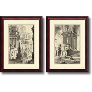 Giovanni Battista Piranesi 'Vintage Roman Ruins III & IV- set of 2' Framed Art Print 21 x 28-inch Each