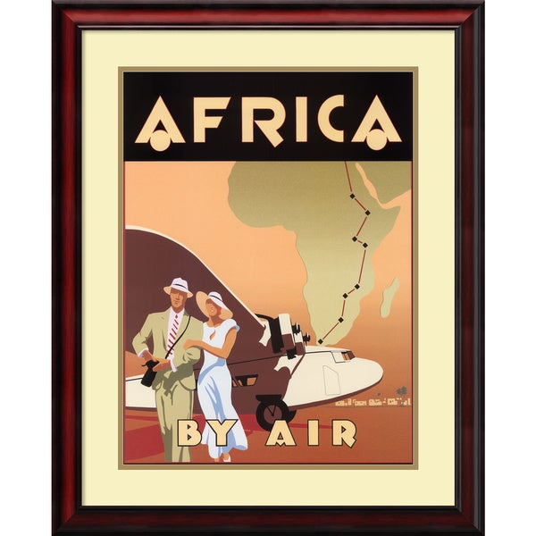 Brian James 'Africa by Air' Framed Art Print 25 x 31-inch