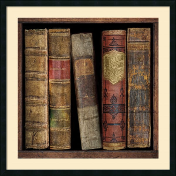 Russell Brennan 'In The Library I' Framed Art Print 34 x 34-inch