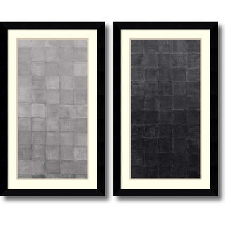 Renee W. Stramel 'Grey Scales- set of 2' Framed Art Print 23 x 38-inch Each