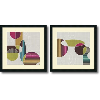 Tandi Venter 'Blast from the Past- set of 2' Framed Art Print 25 x 25-inch Each