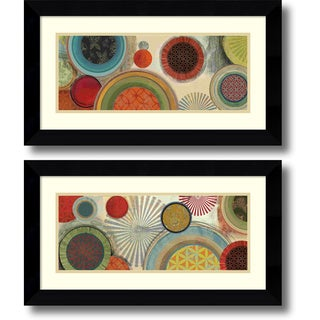 Tom Reeves 'Commotion- set of 2' Framed Art Print 27 x 15-inch Each