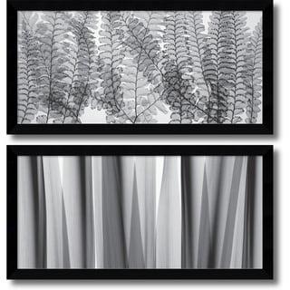 Steven N. Meyers 'Maidenhair Ferns & Yucca Leaves- set of 2' Framed Art Print 40 x 20-inch Each