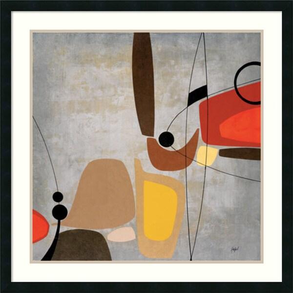 Danielle Hafod 'Logic & Balance II (silver)' Framed Art Print 33 x 33-inch