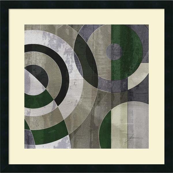James Burghardt 'Concentric Squares IV' Framed Art Print 25 x 25-inch