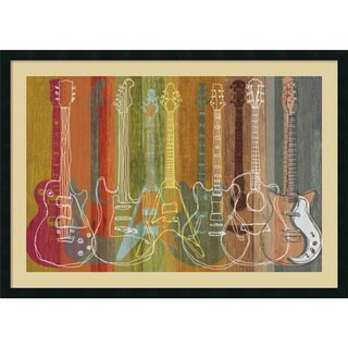 M.J. Lew 'Guitar Heritage' Framed Art Print 42 x 30-inch