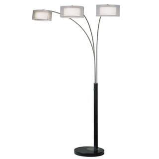 Amarillo Silvertone Arc 3-light Floor Lamp