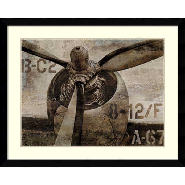 Dylan Matthews 'Vintage Propeller' Framed Art Print 41 x 33-inch