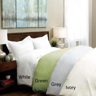 Tribeca Living 350 Thread Count Egyptian Cotton Percale 3-piece Duvet Cover Set