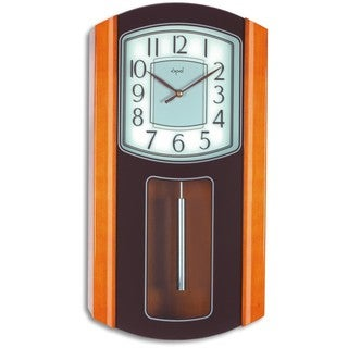 Opal Wooden Case Westminster Chime and Strike Wall Clock with Dial Silk Printed Glass