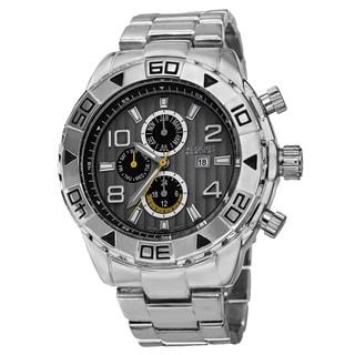 August Steiner Men's Swiss Quartz Multifunction Month Bracelet Watch