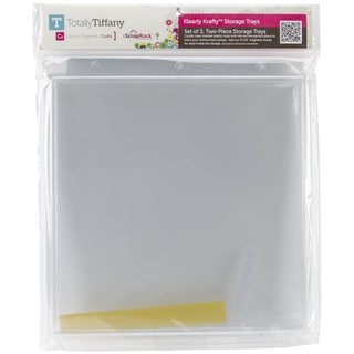 ScrapRack Klearly Krafty Stamp Storage 3/Pkg-Lid W/Tray