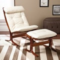 Upton Home Westbrook Vanilla Chair and Ottoman