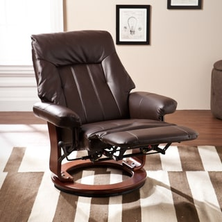 Upton Home Hallowell Kona Brown Recliner w/ Hidden Ottoman