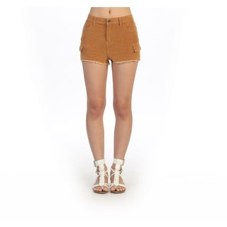 Hadari Women's Casual High-waist Corduroy Shorts