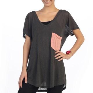 Hadari Women's Casual Loose Fitting Short Sleeve Top