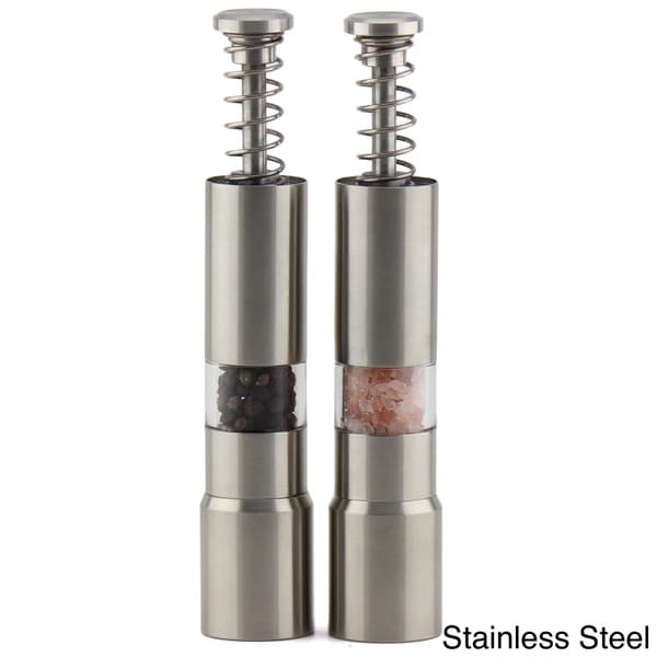 Epare Stainless Steel Salt and Pepper Grinder Set