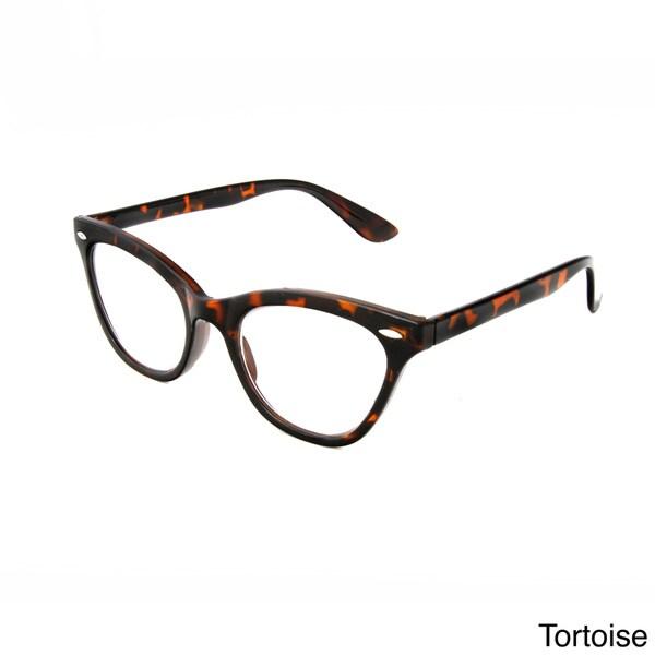 Cat Eye Frame Reading Glasses : Hot Optix Womens Cat Eye Retro Reading Glasses - 16433390 ...