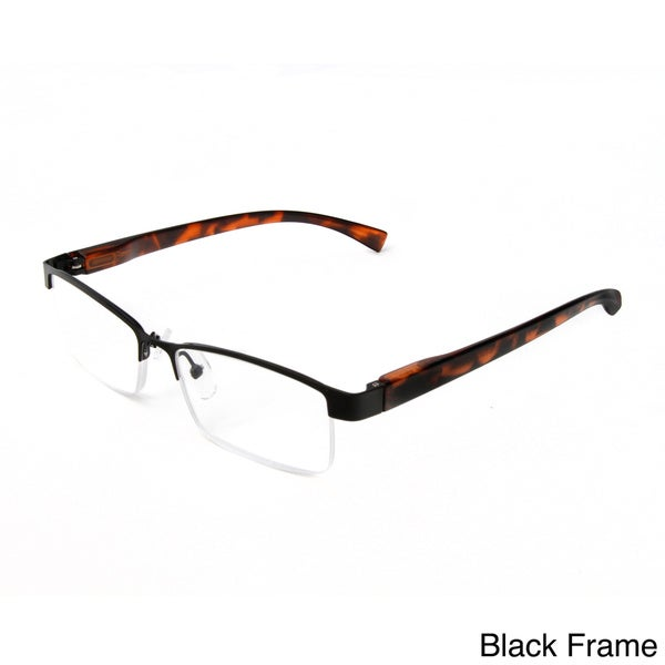 Hot Optix Unisex Metal Half-frame Reading Glasses ...