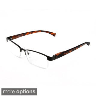 Hot Optix Unisex Metal Half-frame Reading Glasses