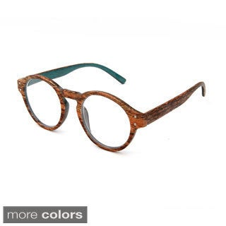 Hot Optix Women's Large Round Readers with Woodgrain