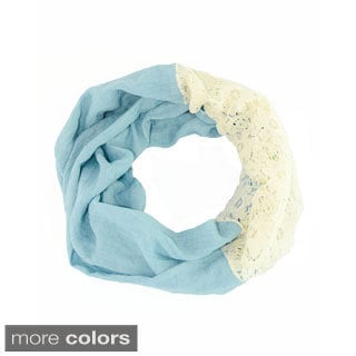 Leto Collection Lace Combination Infinity Scarf
