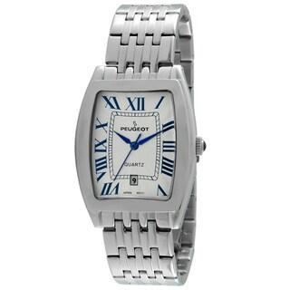 Peugeot Men's Tourneau Guilloche 1041S Silvertone Dial Watch