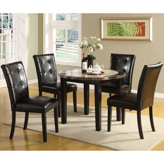 Furniture of America Berthelli Black 5-Piece Round Dining Set