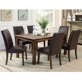 Furniture of America Tressima 7-Piece Dark Oak Dining Set