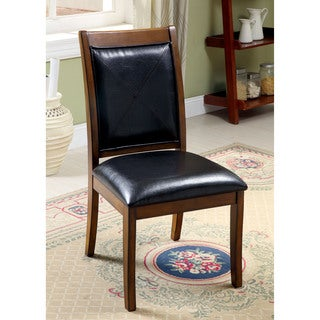 Furniture of America Walwick Transitional Tobacco Oak Side Chair (Set of 2)