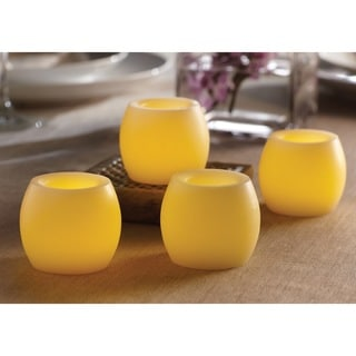 Order Home Collection 4-piece LED Barrel Candle Flameless Set