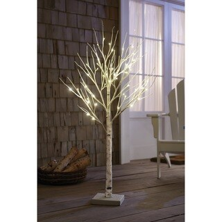 Order Home Collection 4-foot Decorative LED Birch Tree