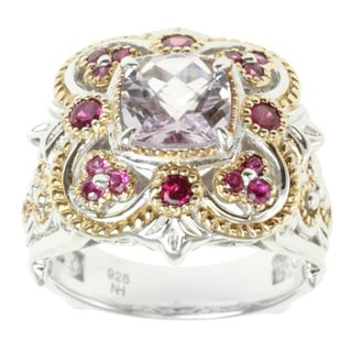 Michael Valitutti Two-tone Kunzite, Rubelite and Ruby Ring