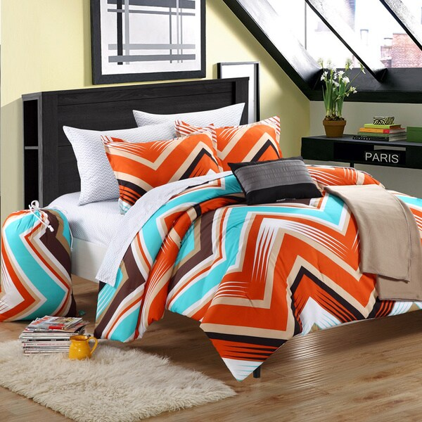 Chic Home Ziggy Zag Peach 9-piece Dorm Room Bedding Set